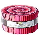 Robert Kaufman RU-433-40 预裁条纹,Kona 棉香紫调色板,2.8 码,40 码,粉色