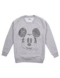 Disney 女孩米老鼠金属面部运动衫