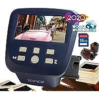 zonoz FS-Five 数字胶片和滑动扫描仪 - 将 35mm、126、110、Super 8 和 8mm 胶片负片和滑片转换为 JPEG - 包括大型明亮的 5 英寸液晶显示屏,易装胶片插入适配器(16 GB SD 卡)
