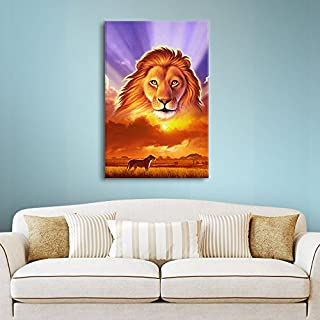 Art Wall Jerry Lofaro 'The Lion King' Gallery-Wrapped Canvas Artwork, 24 by 32-Inch
