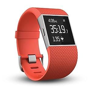 Fitbit Surge 智能乐活手环 GPS全球定位 心率实时检测 手机音乐操控 智能手表全能王 橙色 S