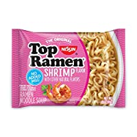 Nissin Top Ramen, Shrimp, 3 Ounce (Pack of 24)