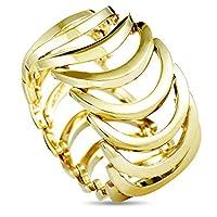 Calvin Klein 身体黄色 PVD 镀不锈钢宽戒指