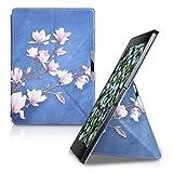 kwmobile Origami Kobo Aura ONE 手机壳 - 超薄优质 PU 皮革支架保护套 - 黑色43688.04_m000625 Magnolias 灰褐色 白色 蓝色 灰色