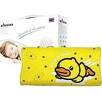 Nittaya妮泰雅泰国商业部推荐天然乳胶儿童颈椎养护枕学生枕头 小黄鸭授权版黄色 高6CM(3-8岁)