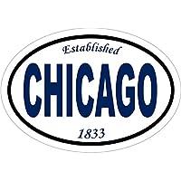 芝加哥贴花 - 成立 1833 芝加哥乙烯基贴纸 - 芝加哥保险杠贴纸 - 城市贴花 - 完美芝加哥风市礼物 - 美国制造