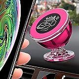 豪华汽车手机支架 - 磁性车载支架 - 磁性支架 360 度从仪表板旋转 - 适用于 Apple iPhone iPod Samsung Galaxy 智能手机的通用车载支架 桃红色