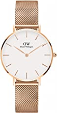 Daniel Wellington 丹尼尔惠灵顿 瑞典品牌 黑/白表盘 玫瑰金/不锈钢表带 石英女士手表 DW00100161- DW00100164