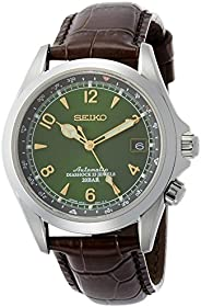 Seiko Men's SARB017 Mechanical Alpinist Analog Automatic Self Wind Brown W