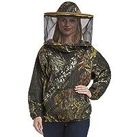 Natural Apiary - Beekeeping Smock 罩衫(套装/夹克)- 1 x 不可燃圆形面纱 - 专业和初学者*保护 XL NA-SMOCK-RDCM-XL