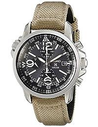 Seiko Prospex Smoke Dial SS Tan Textile Chronograph Quartz Men's Watch SSC293 -海外卖家直邮