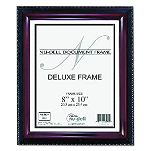Nu-Dell 8 x 10 Inches Executive Document Certificate Frame, Black/Mahogany
