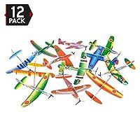 12 支 8 英寸滑翔机飞机 - 生日派对喜爱飞机,**品,Handout / Giveaway Glider,飞行模型,一打