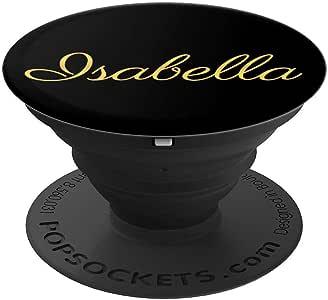 Isabella Name 定制生日圣诞女孩可爱黑色礼品 - PopSockets 手机和平板电脑握架260027  黑色