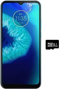 摩托羅拉 Moto G8 Power Lite (64GB, 4GB) 6.5 英寸*大視野顯示器,雙卡 GSM 解鎖,全球 4G LTE 國際型號 (T-Mobile、AT&T、Metro、Cricket) XT2055-2 藍*