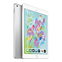 【2018新款】 Apple iPad 9.7英寸平板电脑(128G WIFI版/A10 芯片/Retina显示屏/Touch ID技术 MR7K2CH/A) 银色 套装版【内含复古麋鹿定制款保护套+chirslain清洁套装】