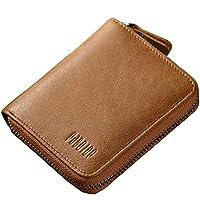 男式拉链钱包 RFID 真皮钱信用卡身份证窗口大闪存钱包双折 Pabojoe