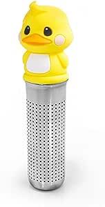 MIKEEP 吸入杯茶壶套装可爱设计铂金硅胶 鸭子 Design Cobi28