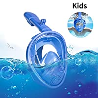 Sanoto *口面罩,可折叠儿童*浮潜面罩,带可拆卸相机支架,防雾防漏潜水*管