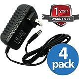 ventech (4 个装)18 瓦*大电源适配器 - 110V 交流电至 12V 直流,1.5A - (LED 灯带变压器,*相机)