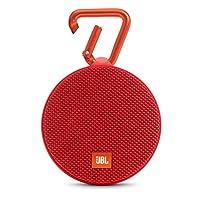 JBL Clip2 音乐盒2 蓝牙便携音箱 音响 户外迷你小音响 音箱 防水设计 高保真无噪声通话 红色(美国品牌)