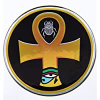 Ankh 生命符号埃及徽章圆顶贴花铬自行车摩托车汽车