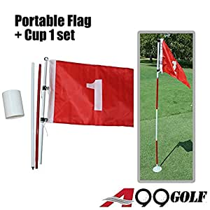 hole cup set Practice Golf Hole Pole Cup Flag Stick Putting Green Flagstick