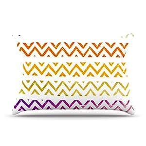 Kess InHouse Sreetama Ray V 形图案增加保暖雪花形枕枕套,76.2cm x 50.8cm