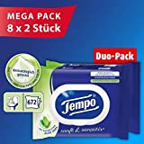 Tempo 温和 敏感肌肤适用 湿厕纸 超大包装(16 包 x 每 42 张纸)