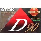 TDK D90 高输出 90 分钟 IECI/Type I 盒式磁带,一套 (7)