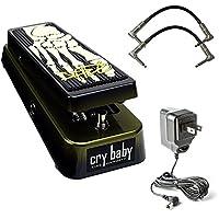 Dunlop KH95 Kirk Hammett 签名 Cry Baby Wah 踏板套装,带 2 根接线和 Dunlop 9V 电源