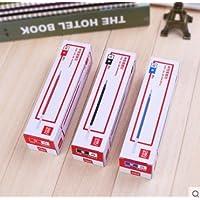 得力S760中性笔替芯水笔芯中性笔芯0.5mm子弹头替芯通用标准 黑色2支