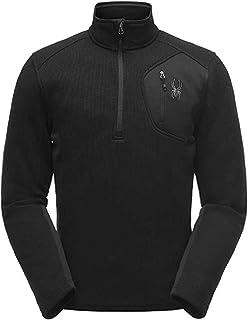 SPYDER 男式Bandit 半拉链穿衣羊毛套头夹克,适合冬季运动