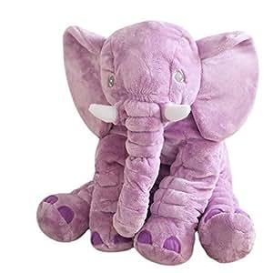 Crazy lin 长鼻子大象玩具动物软毛绒玩具娃娃 紫色 小号 LIN-ElephantPillow
