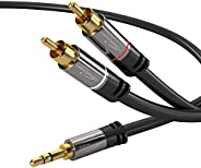 kabeldirekt 0.5米 Y Adapter CABLE 3.5mm MALE > 2rca MALE–PRO 系列