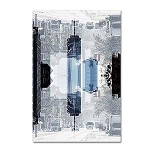 Trademark Fine Art PH0148-C1219GG 纽约反射 V 墙饰 Philippe Hugonnard 出品 12x19 PH0148-C1219GG