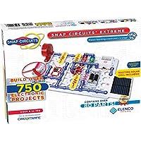 Elenco Snap Circuits Extreme SC-750 電子探測套件| 750多件項目| 全彩項目手冊| 80多個Snap Circuits零件| STEM益智玩具 適用于8歲以上兒童