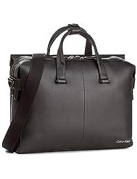 Calvin Klein 卡尔文·克莱恩 男式 商务单肩电脑包 Double Tack Laptop Bag K50K503459-001-OS 黑色 41 * 9 * 39cm