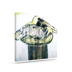 "Kess InHouse Josh Serafin ""Oldtimer""白色鸟户外帆布墙艺术 20"" x 24"" 白色 JS2013AAC04"