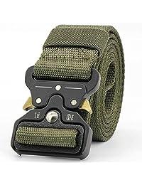 CHESSUN 男士战术腰带,3.81 厘米*尼龙织带皮带,带重型快速释放金属扣