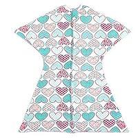 SleepingBaby 女孩拉链襁褓过渡期婴儿襁褓毯带拉链,舒适婴儿襁褓包裹和婴儿睡袋 Lots of Love! Medium 6-12 Month