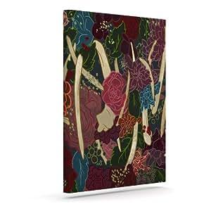 Kess InHouse Jaidyn Erickson 新生活红色花卉户外帆布墙壁艺术,50.8 x 60.96 厘米