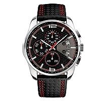 fizili 黑色表带指针式石英表男式手表
