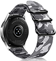 Fintie 表带 兼容Galaxy Watch 46mm / Gear S3,柔软的编织尼龙表带 22毫米快速释放可调替换运动表带,兼容Samsung Gear S3 Classic / Frontier Smartw