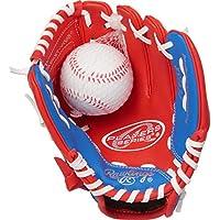 Rawlings Players 青年 Tball/棒球手套系列(3-9 岁) Red/Blue with Ball 9英寸