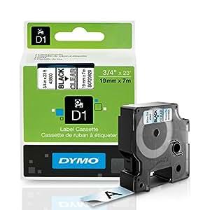 DYMO Standard D1 45800 Labeling Tape (Black Print on Clear Tape, 3/4'' W x 23' L, 1 Cartridge)