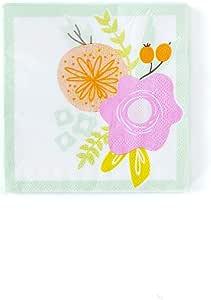 纸巾复活节餐巾 12.7 厘米 x 12.7 厘米鸡尾酒餐巾纸,适合复活节晚餐或复活节组 多种颜色 Cocktail Napkins Pk 50