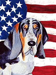 USA American Flag with Basset Hound Flag 多色 小号