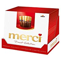 merci 蜜思巧克力 Finset Seletion 系列混享装巧克力礼盒 –发自内心的谢谢-精选巧克力 5盒(5×250 克)