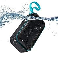 户外蓝牙音箱 elegiant 便携式无线立体声5W 音箱 IPX 防水防震12hour PLAY + 麦克风适用于 iPhone iPad Android 淋浴骑行游泳沙滩徒步运动旅行 蓝色